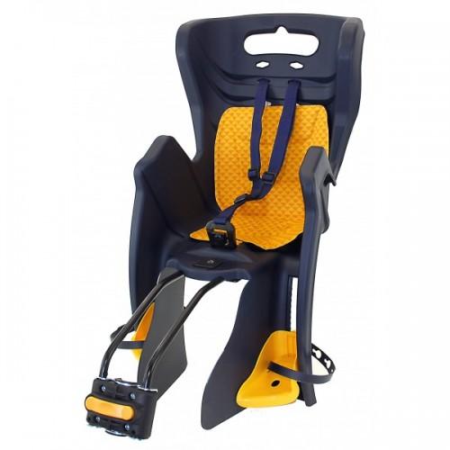 Кресло детское на подседельную трубу до 22кг, до 7 лет, регулируемая высота подножек, с регулируемым