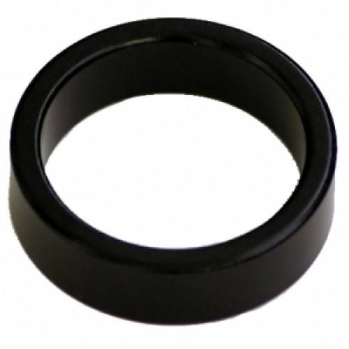 """Кольцо алюминиевое Neco 1 1/8"""", 10 мм, облегченное, черное"""