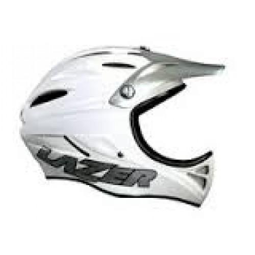Шлем для BMX LAZER, модель EXCALIBUR Che (Full Face), цв.белый/зеленый матовый, p.L