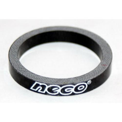 """Кольцо карбоновое Neco 1 1/8"""", 5 мм, черное"""