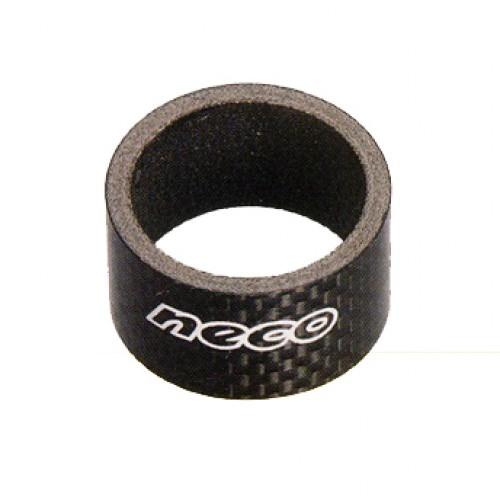 """Кольцо карбоновое Neco 1 1/8"""", 10 мм, черное"""