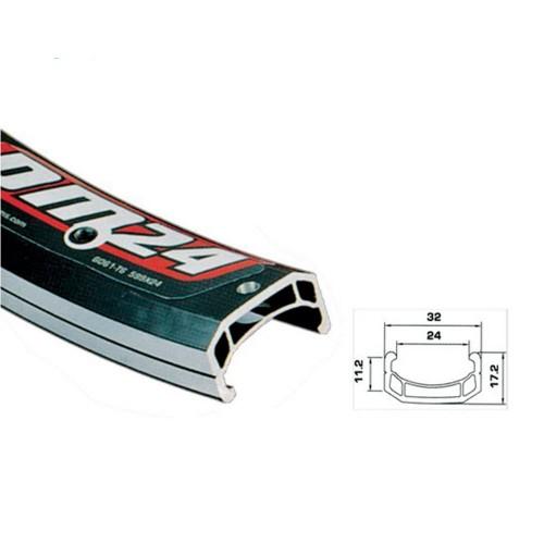 Обод двойной 3-х канальный, 559x24; 32 отв, белый, шлиф стенки,  пистон, A/V