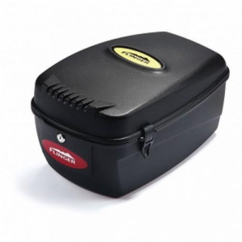 Бокс на багажник, с замком, объем 16,5 л, универсальный крепеж,  ударопрочный пластик, 40х26х20см