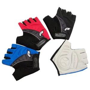 Перчатки  с укороченными пальцами, черные. верх - лайкра ; ладонь - AMARA+ полиуретан