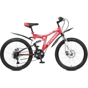"""Велосипед Stinger 26"""" Highlander 100D 16"""" красный TZ30/TY21/RS35"""