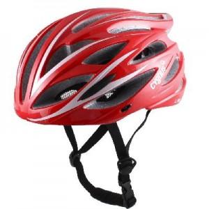Шлем взрослый с регулировкой размера. Цвет бело красный/ Вес 230 гр.