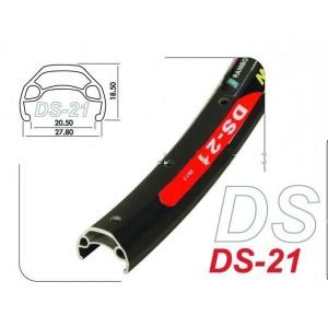 """Обод мод. DS-21, 26"""" - 559х21С, двойной, не пистонированный. под дисковый тормоз, 32 отв.цвет чёрный"""