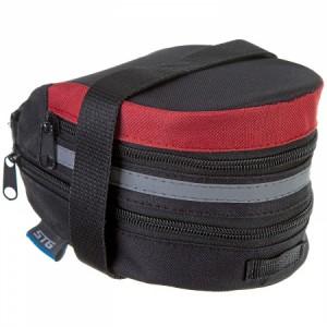 Сумка велосипедная STG мод.13014 под седло,черная/красная. размер M