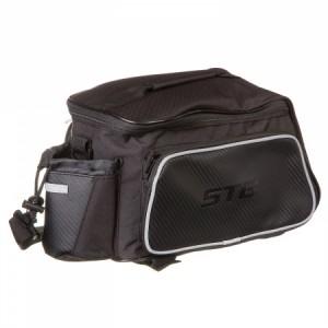 Сумка велосипедная STG, мод. 131397 на багажник велосипеда, цвет черный. размер M