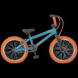 """Велосипед BMX TechTeam Goof 20"""" бирюзово-оранжевый"""