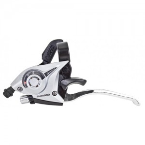 Шифтер/ручка тормоза Shimano Tourney, ST-EF51, лев, 3ск, серебр